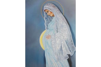 Bead Embroidery kit Motherhood Needlepoint Handcraft Tapestry kit Pregnancy beaded cross stitch Our Lady bead pattern Mother of God