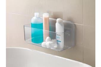 Addis Invisifix Bathroom Shower Storage Caddy Holder, Translucent, 13.5 x 28 x 15 cm