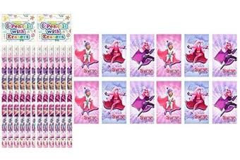 12 X Super Girls Notebooks & Super Girls Pencils