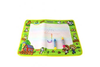Sansee Water Drawing Painting Writing Mat Board Magic Pen Doodle Gift with 2 Water Drawing Pen for Kids 50cmX36cm