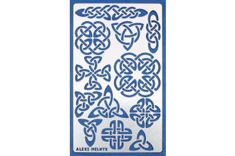 Aleks Melnyk #32 Stencil Metal/Celtic/Stainless Steel Planner Stencil Journal 1 PCS/Notebook/Diary/Bujo/Scrapbooking/Crafting/DIY Drawing Template Stencil