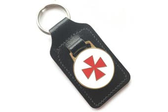 Knights Templar Masonic Order Enamel Crested Key Ring