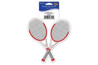 Beistle Tennis Racquets Peel 'N Place, 13cm , Multicolor