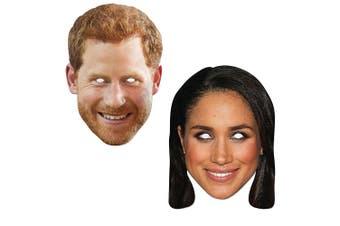 Masks Royal Wedding Couples Set Prince Harry and Meghan Markle (2 PCS)