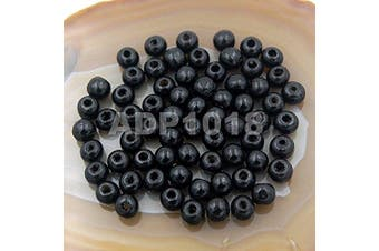 (6x8mm 300pcs, Black) - AD Beads Wood Spacer Loose Wooden Craft Beads (6x8mm 300pcs, Black)