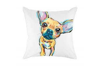 (Cd-go-w7) - Redland Art Cute Pet Chihuahua Dogs Pattern Cotton Polyester Throw Pillow Case Cushion Cover Home Decor