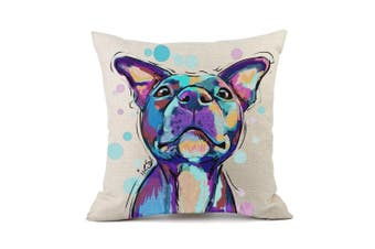 (Cd-go-m6) - Redland Art Cute Pet Pit Bull Dogs Pattern Cotton Linen Throw Pillow Case Cushion Cover Home Decor