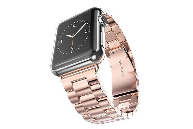 (For Apple Watch Strap 42mm, Rose Gold) - AISPORTS For Apple Watch Strap 42mm iWatch Straps 42mm Stainless Steel Smart Watch Band Replacement Strap Bracelet Buckle Clasp Wrist Band for 42mm Apple Watch Series 3/2/1 Sport Edition - Rose Gold