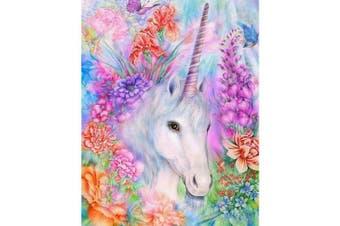 (Unicorn in Garden) - 5D Diamond Painting, Full Drill Unicorn Crystals Embroidery DIY Resin Cross Stitch Kit Home Decor Craft (Unicorn in Garden)
