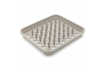(Mushroom) - Addis Dish Draining Rack with Drying Pegs, W33.5 x d38cm, Mushroom, 38 x 33.5 x 5 cm
