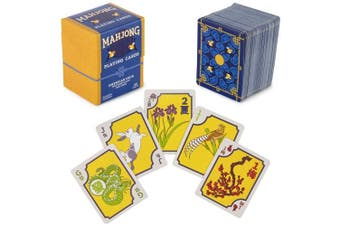 American Mahjong Playing Cards - 156-Card Deck for Chinese and Western Game Play, Includes Rules and Storage Box by Brybelly