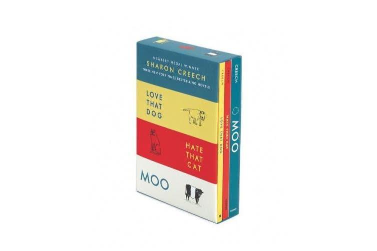 Sharon Creech 3-Book Box Set: Love That Dog, Hate That Cat, Moo