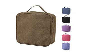 (9 x 18cm  x 7.6cm , Olive) - purifyou Classic Insulated Lunch Box - Compact, Easy Wash, Smooth Zipper & Lightweight - Tote Bag & Container, Lunch Bag for Men & Women - Lunchbox for Kids, Boys, Girls, Adults