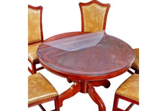 (80cm  Inch Diameter Round, Round Frosted Color) - Round Table Cover Bed Sofa Side Dining Coffee End Tabletop Protector Frosted Plastic Tablecloth PVC Vinyl Wipeable Water Resistant Circle Desk Furniture Protective Pad Easy to Clean 80cm Inch Diameter