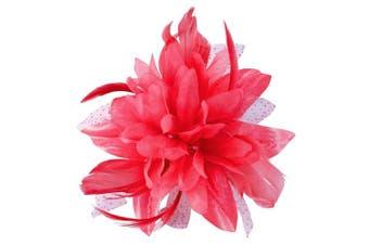 (Pink) - Aurora Collection Flower with Biots Fascinator