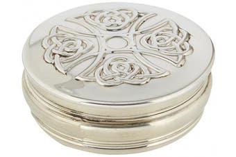 Edwin Blyde & Co Celtic Cross Design Trinket Box, Pewter