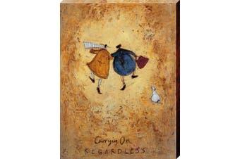 Art Group The Sam Toft Carrying on Regardless Canvas Print, Cotton, Multi-Colour, 1.8 x 30 x 40 cm