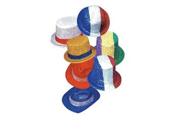 Hello – 5 of September Coloured Top Hats, Bowler Glitter, Themes and Assorted Colours