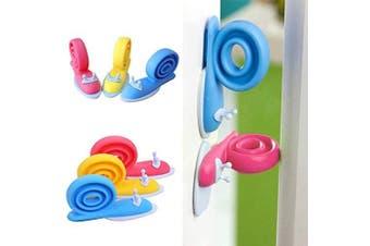 Door Stopper PET PALS, 6pcs Cute Colourful Compact Snail Design Adjustable Baby Kids Safety Protector Doorstop Proofing Finger Pinch Guard (Door Stopper)
