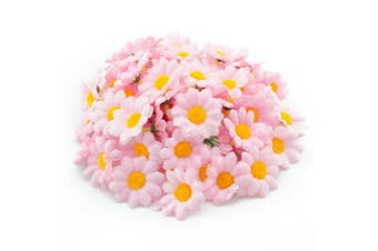 (Pink) - AKORD Artificial Gerbera Daisy Flowers Heads for Diy Wedding Party, Pink, 0.38 x 0.38 x 0.2 cm