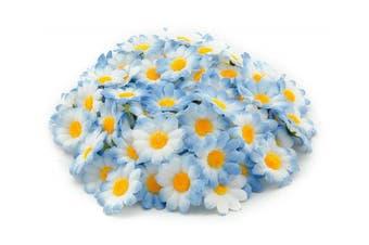 (Blue) - AKORD Artificial Gerbera Daisy Flowers Heads for Diy Wedding Party, Blue, 0.38 x 0.38 x 0.2 cm