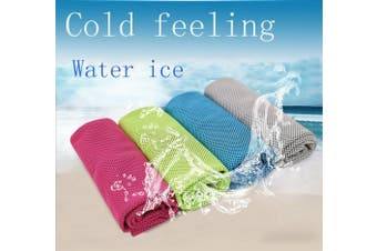 Ranvi Ice Cooling Towel-Compact Chilling Wrapped Neck Scarf for Yoga,Golf,Camping,Beach,Fitness,Workout, 6 PCS.