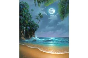 DIY 5D Diamond Painting Kit, Full Diamond Seaside Moon Beach Embroidery Rhinestone Cross Stitch Arts Craft Supply for Home Wall Decor