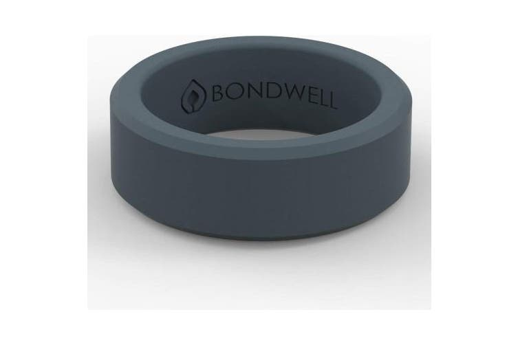 (12, Storm Blue) - Bondwell BEST SILICONE WEDDING RING FOR MEN Protect Your Finger & Marriage Safe, Durable Rubber Wedding Band for Active Athletes, Military, Crossfit, Weight Lifting, Workout - 100% Guarantee