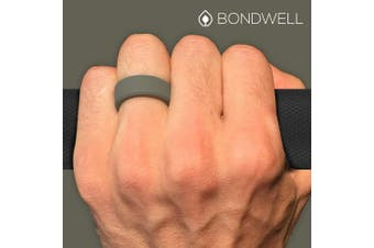 (9, Olive) - Bondwell BEST SILICONE WEDDING RING FOR MEN Protect Your Finger & Marriage Safe, Durable Rubber Wedding Band for Active Athletes, Military, Crossfit, Weight Lifting, Workout - 100% Guarantee
