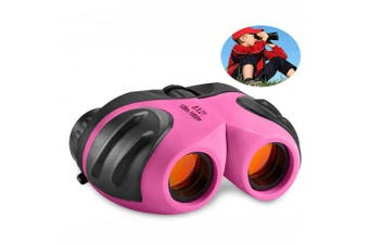 (pink2) - TOP Gift Compact Shock Proof Binoculars for Kids -Best Gifts