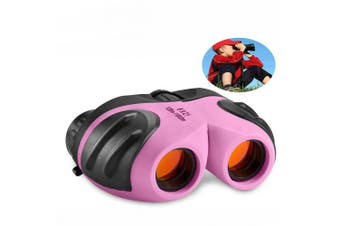(pink1) - TOP Gift Compact Shock Proof Binoculars for Kids -Best Gifts