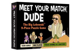 Meet Your Match®, Dude - The Official 9-Piece Puzzle Game & Coaster Set based on The Big Lebowski