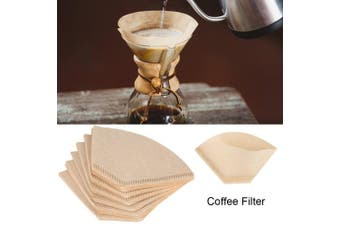 (102) - 40Pcs Unbleached Natural Cone-Shape Drip Coffee Cup Disposable Filter Papers (102)