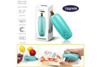 Mini Bag Sealer,Handheld Portable Heat Machine Seal Kitchen Machine Heat Plastic Sealing for Plastic Bags,Chip,Snack,Cereal(Battery Included)