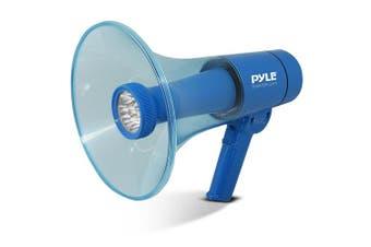 (WaterProof) - Pyle Portable Compact PA Megaphone Speaker w/ Alarm Siren, Adjustable Volume, 40 W Handheld Lightweight Marine Grade Waterproof Bullhorn, LED Flashlight, AA Battery Powered, Indoor Outdoor (PMP66WLT)