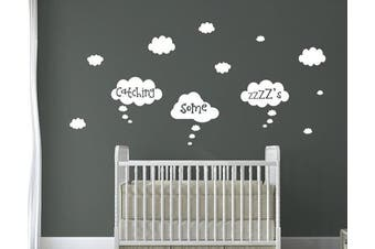 (Catching Some Zzz's) - Beautiful Floating Clouds Nursery Quotes. 6 Choices of Cute Quotes (Catching Some Zzz's)