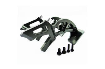 (Wing Mount, Gun Metal) - Atomik RC Alloy Wing Mount, Grey fits the Traxxas 1/10 E-Revo and Other Traxxas Models - Replaces Traxxas Part 5411