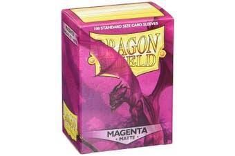 (Magenta) - Dragon Shield Matte Sleeves - Magenta(100 ct)