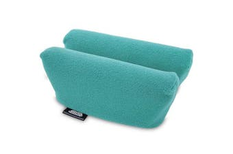 (Teal) - Universal Crutch Underarm Pad Covers - Luxurious Soft Fleece with Sculpted Memory Foam Cores (Teal)