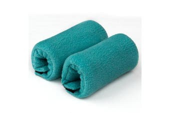(Teal) - Universal Crutch Hand Grip Covers - Luxurious Soft Fleece with Sculpted Memory Foam Cores (Teal)