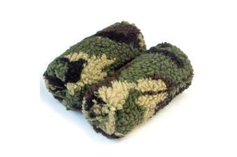 (Camo) - Universal Crutch Hand Grip Covers - Luxurious Soft Fleece with Sculpted Memory Foam Cores (Camo)