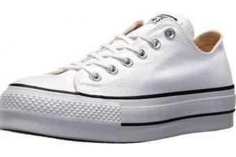 (5.5 UK, White (White/Garnet/Navy 102)) - Converse Women's Chuck Taylor All Star Lift Low-Top Sneakers Black