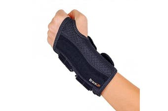 (S/M, Left Hand) - BraceUP Wrist Support Brace with Splints for Carpal Tunnel Arthritis