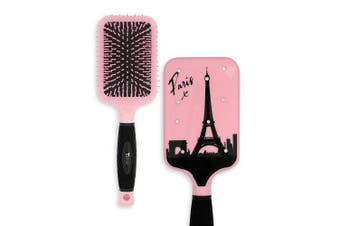 (Paris) - Paddle Hair Brush for Detangling & Styling - Ideal for Blow-drying, Straightening, Combing All Hair Types (Paris)