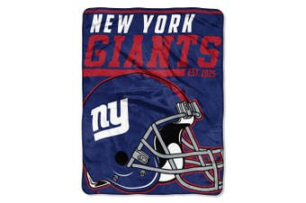 (New York Giants) - The Northwest Company NFL 40 Yard Dash Micro Raschel Throw, 120cm x 150cm