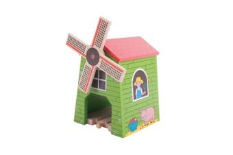 Bigjigs Rail Country Windmill - Other Major Wooden Rail Brands are Compatible