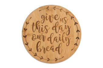(Daily Bread) - Brownlow Gifts Bamboo Trivet Serving Tray, Daily Bread