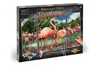 Schipper 609260782 Flamingoes Painting by Number