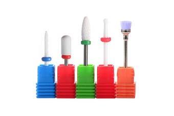 SpeTool Ceramic Manicure Tool Kit Gel Off Cuticle Work Tool Set Electric Roatary Burr 5Pcs/Set