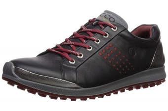 (40 Medium EU (6-6.5 US), Black/Brick) - ECCO Men's Biom Hybrid 2 Hydromax Golf Shoe
